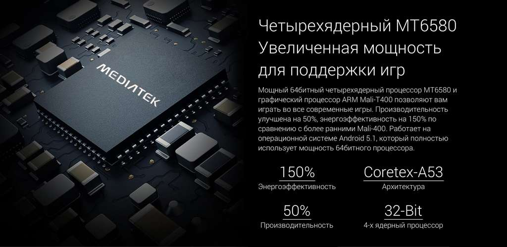 Blackview A5 процессор