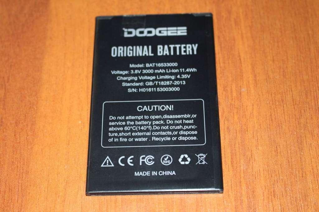 Doogee X9 Pro батарея