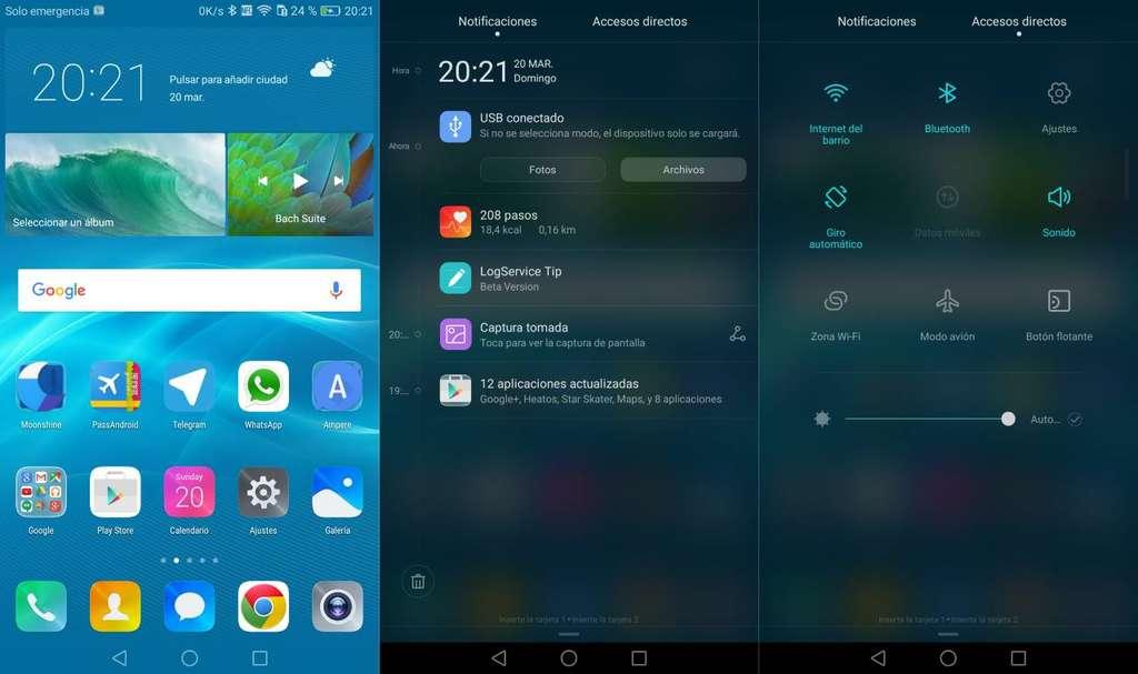 Интерфейс Huawei Honor V9