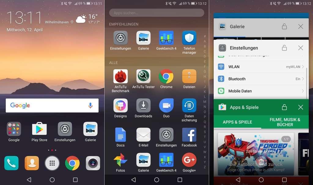 Huawei Y7 интерфейс