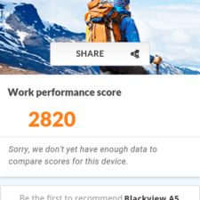 Blackview A5 Тест 3DMark