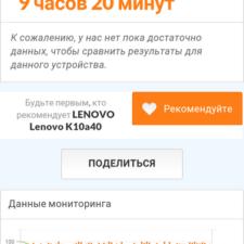 Lenovo Vibe C2 Power тест батареи