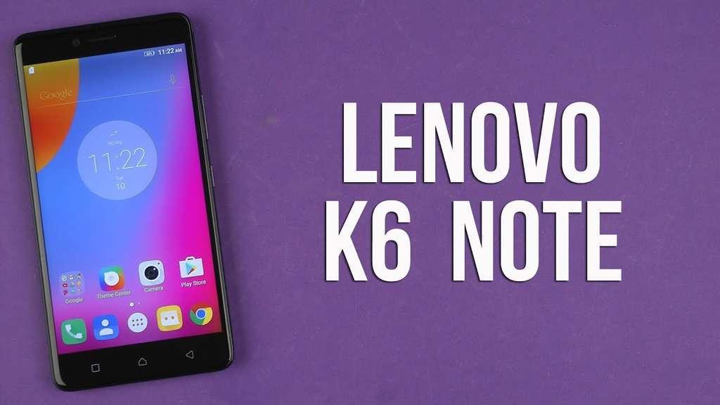 Lenovo K6 Note внешний вид