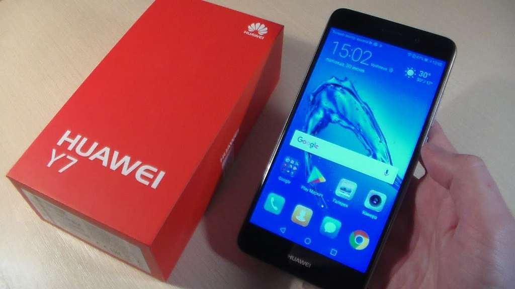 Huawei Y7 коробка