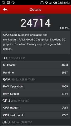 Тест AnTuTu Xiaomi Mi4