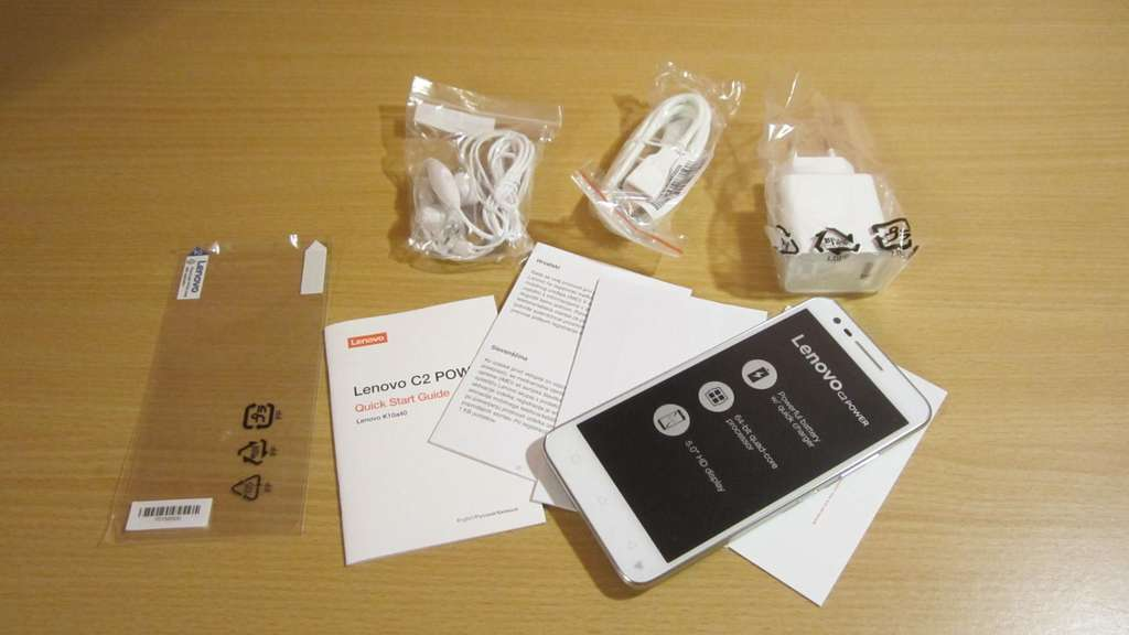 Lenovo Vibe C2 Power комплектация