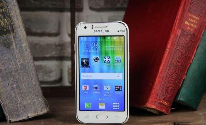 Samsung Galaxy J1 дизайн