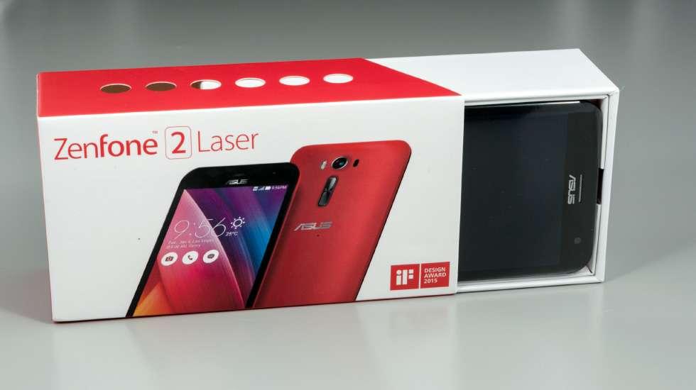 коробка поставки ASUS ZenFone 2 Laser
