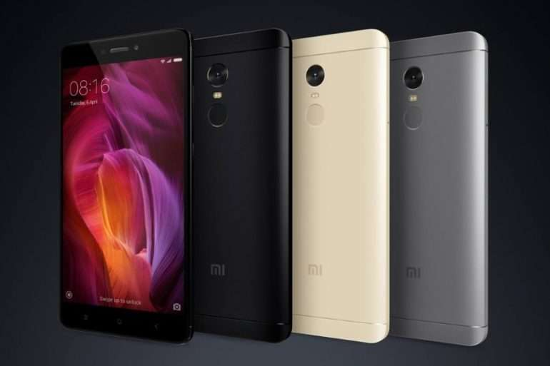 Xiaomi Redmi Note 4 доступные цвета