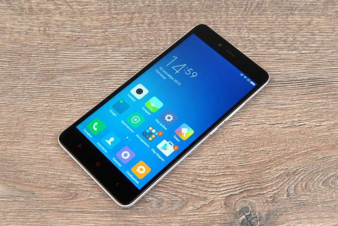 Xiaomi Redmi Note 2 лицевая сторона