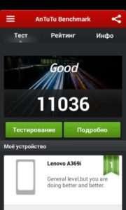 Lenovo A369i тест AnTuTu