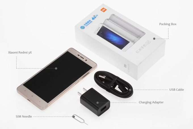 Xiaomi Redmi 3X комплектация