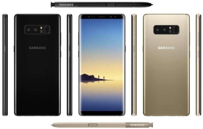 Samsung Galaxy Note 8 дизайн