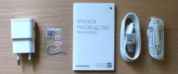 Комплект смартфона Samsung Galaxy A3 2016