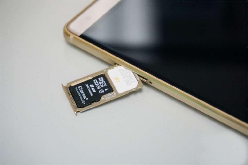 Huawei Mate S слот для карты памяти и сим карты