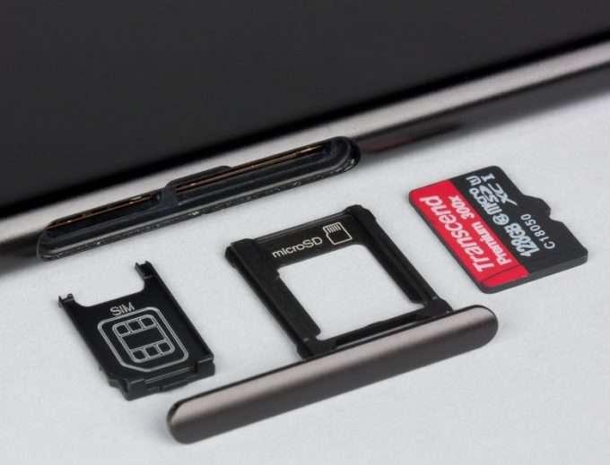 лоток для сим карты в Sony Xperia XZ1