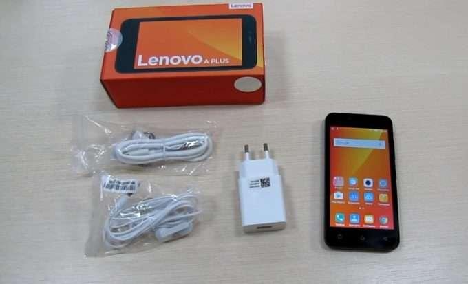 Lenovo A plus комплект поставки