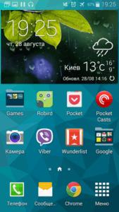 Samsung Galaxy S5 Mini интерфейс