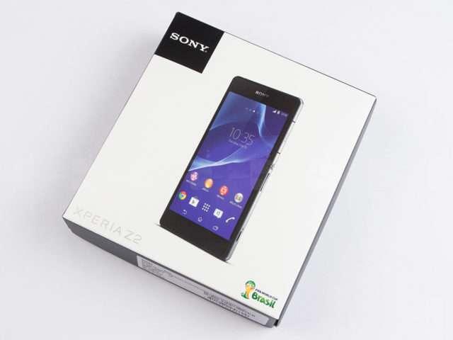 Sony Xperia Z2 коробка