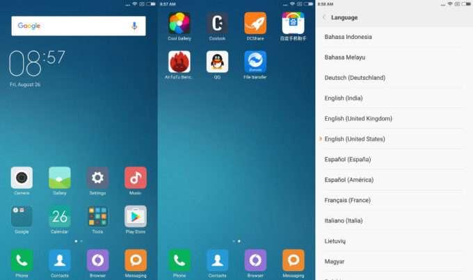 интерфейс Xiaomi Mi Max