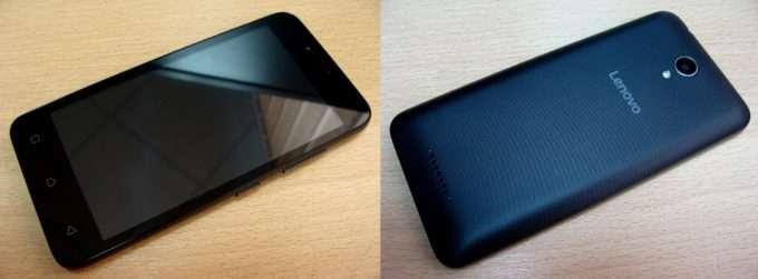 Lenovo A plus лицевая и тыльная панель