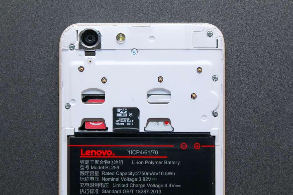 Lenovo Vibe K5 слоты для симкарты и карты памяти