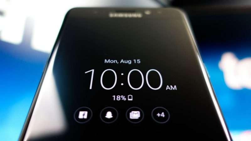Samsung Galaxy S8 Plus экран блокировки