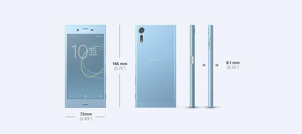 Sony Xperia XZs дизайн