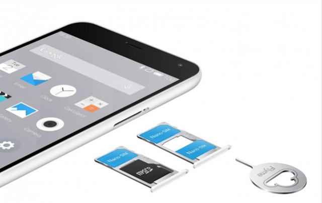 Meizu M2 Note слот для SIM карт