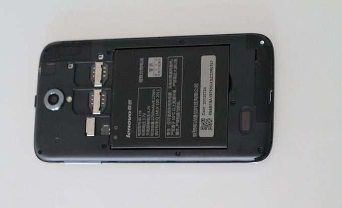 задняя панель Lenovo A850