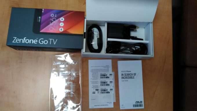 комплект поставки ASUS ZenFone Go TV