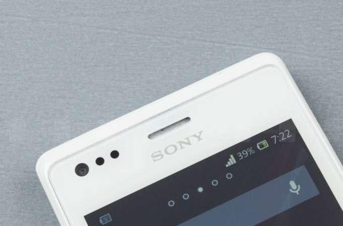 Sony Xperia M фронтальная камера