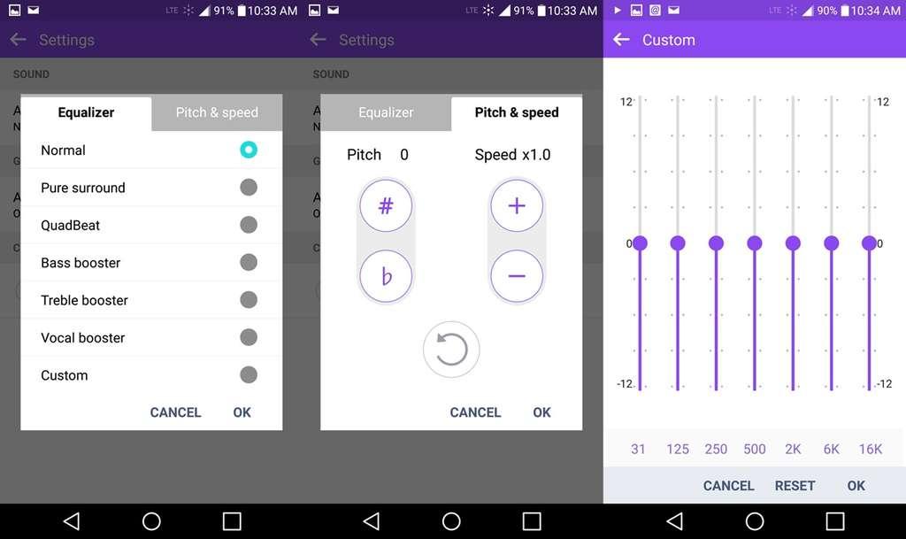 LG G4 настройка музыки