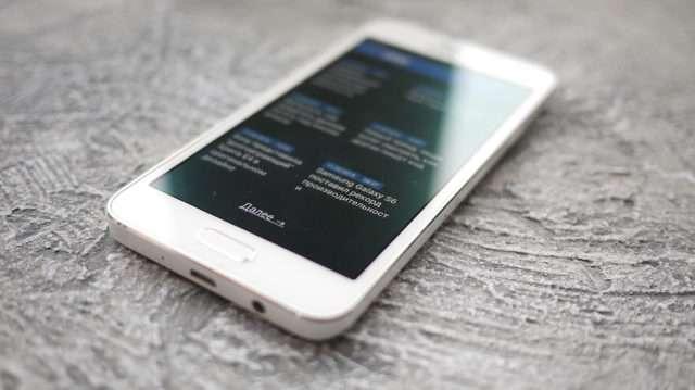 Лицевая сторона Samsung Galaxy A3