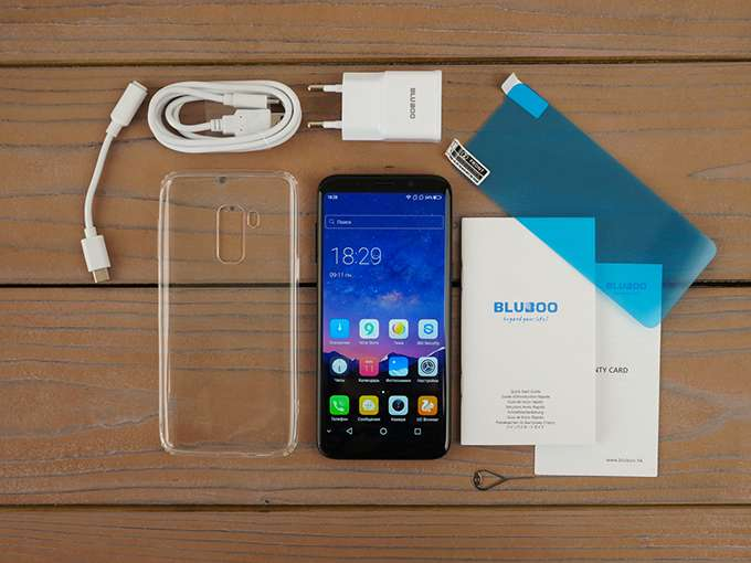 Bluboo S8 комплектация