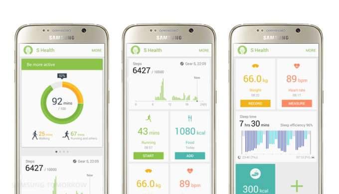 Samsung Galaxy S6 Edge S Health