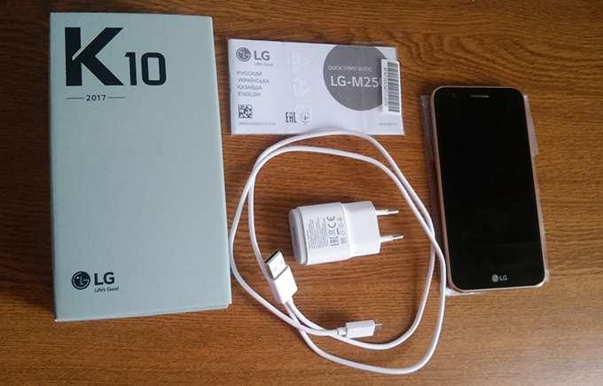 LG K10 комплектация