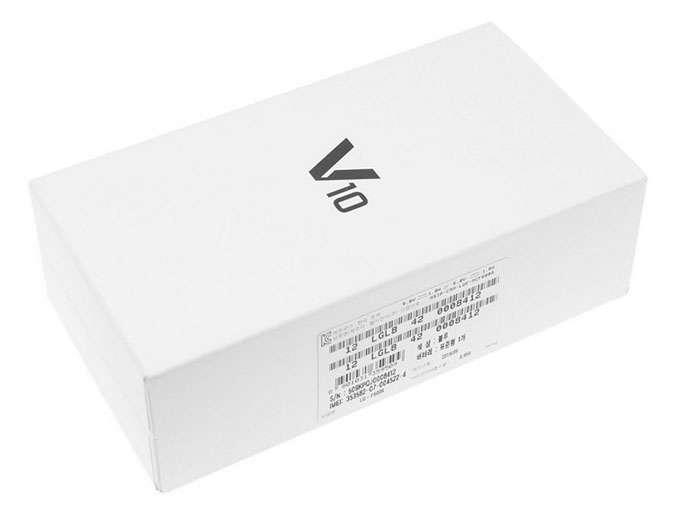 LG V10 коробка