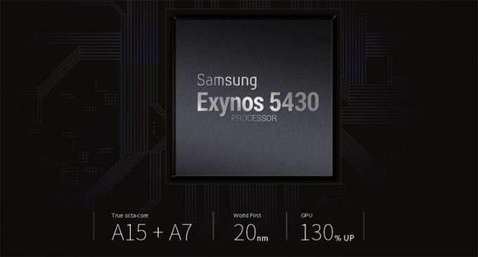 в смартфоне установлен процессор Samsung Exynos 5430 Octa