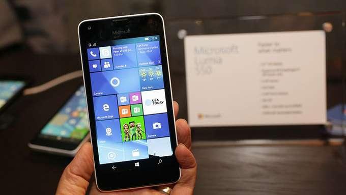 Microsoft Lumia 550 дисплей