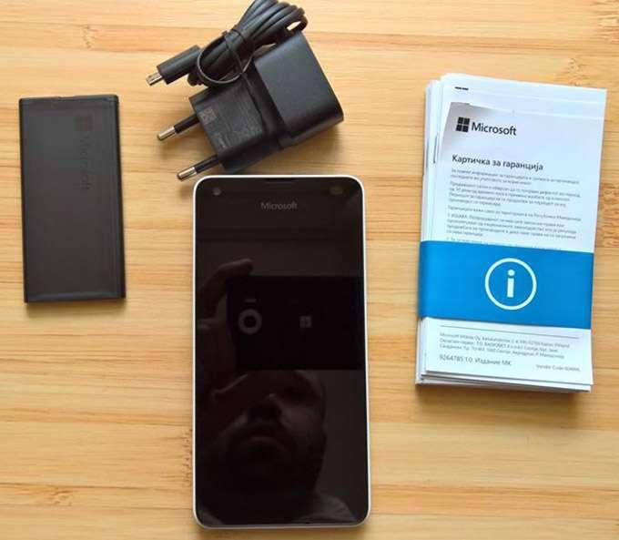 Microsoft Lumia 550 комплектация