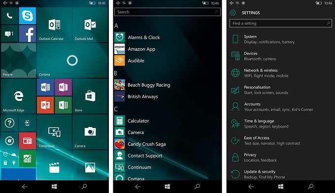 Microsoft Lumia 550 скриншот