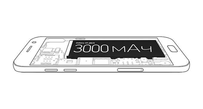 Samsung Galaxy A5 питание