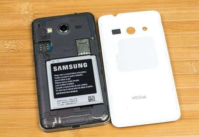 Внутренняя часть Samsung Galaxy Core
