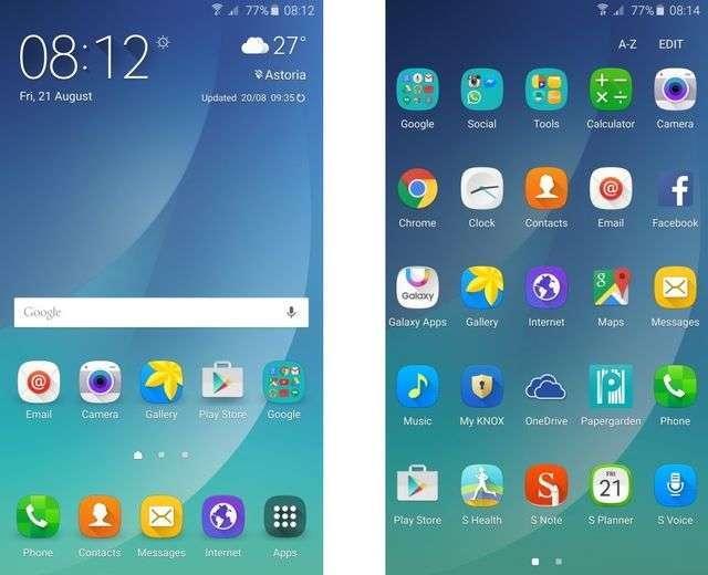 Программное обеспечение Samsung Galaxy Note 5