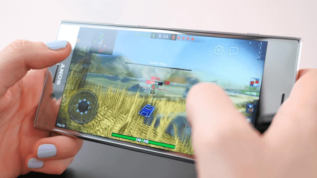 Игра World of Tanks на Xperia XZ Premium
