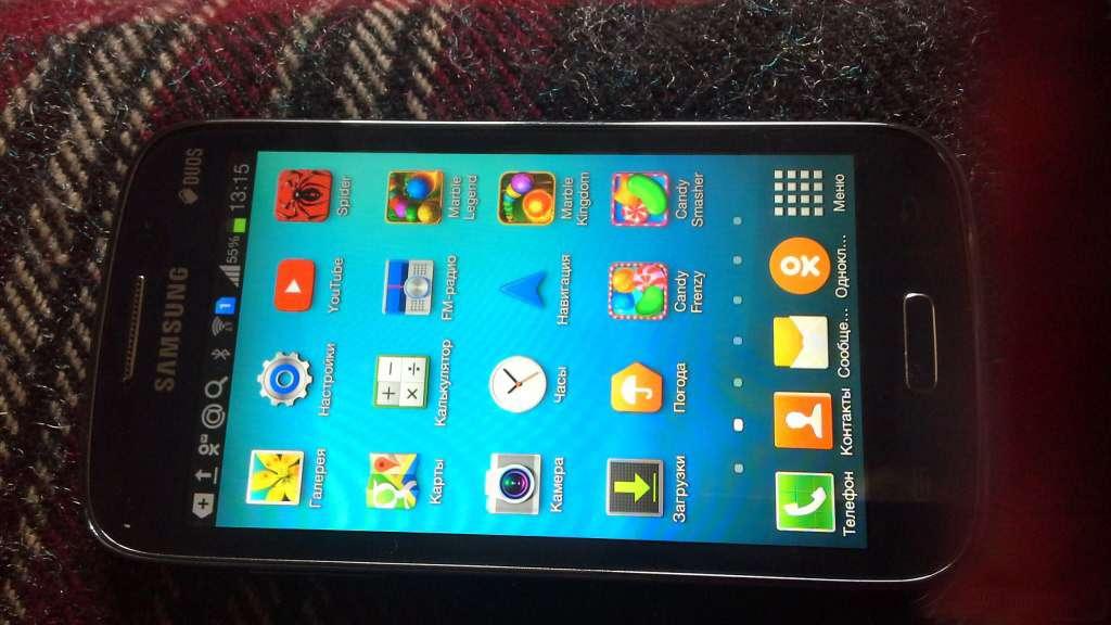 Samsung Galaxy Win интерфейс