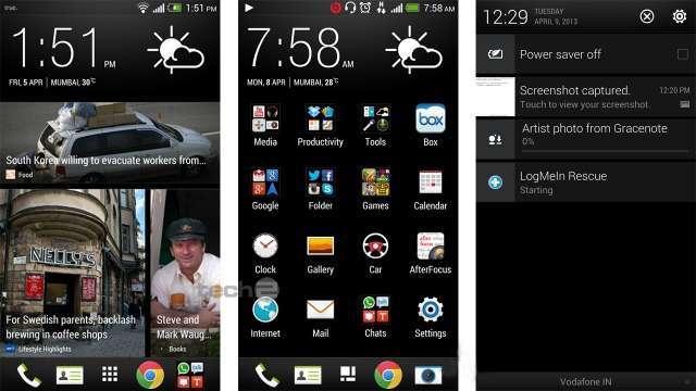 HTC One Dual SIM интерфейс