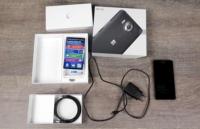Microsoft Lumia 950 комплектация