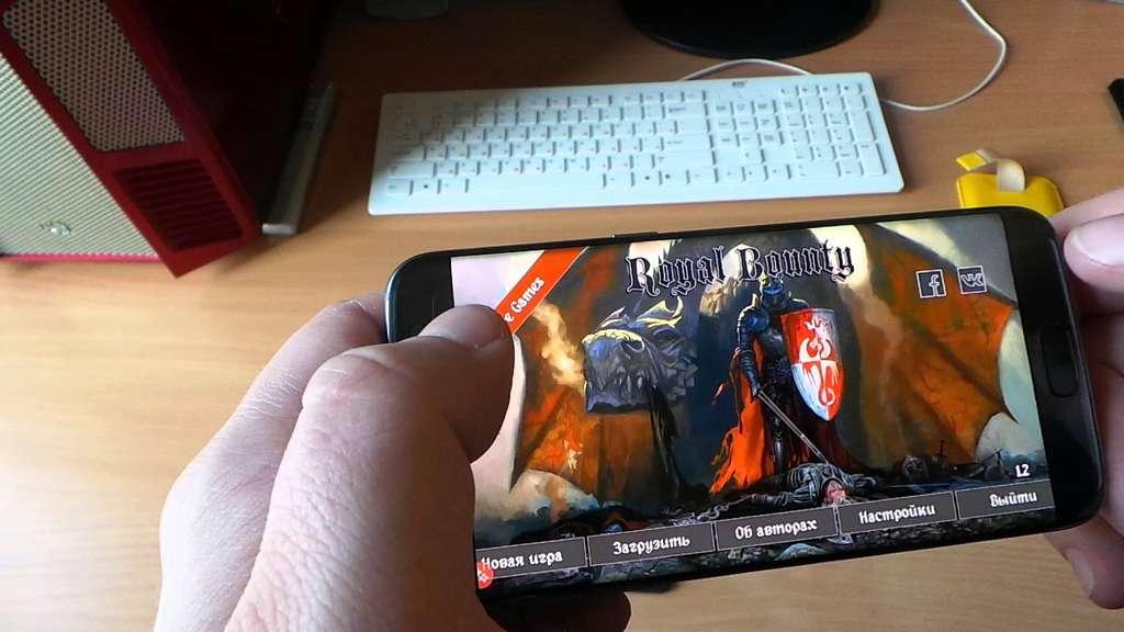 Игра на смартфоне Samsung Galaxy S7 Edge